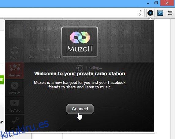 Muzeit es un reproductor de música de YouTube para Chrome con Social Discovery