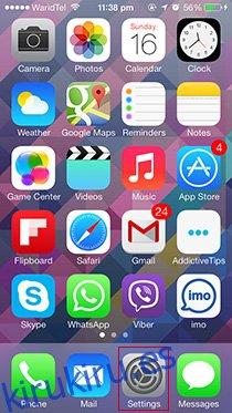 Configuración de iPhone