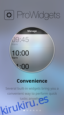 ProWidgets es la primera implementación real de widgets para iPhone y iPad