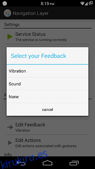Capa de navegación para Android 4