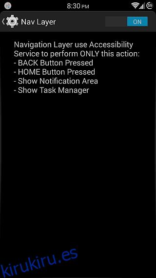 Capa de navegación para Android 8