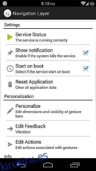 Capa de navegación para Android 1