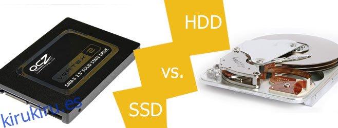 ¿Cuál es la diferencia entre un HDD y un SSD?