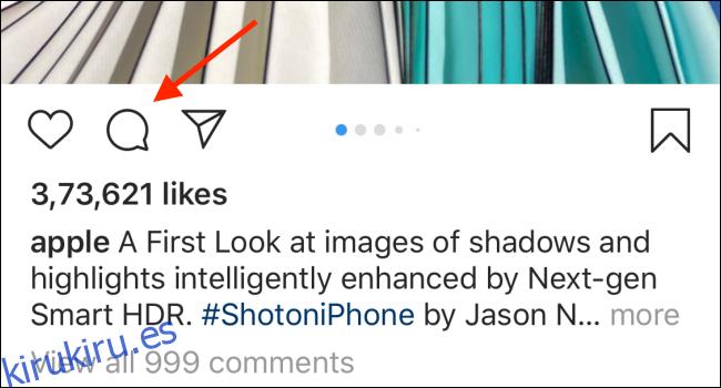 Cómo eliminar un comentario en Instagram
