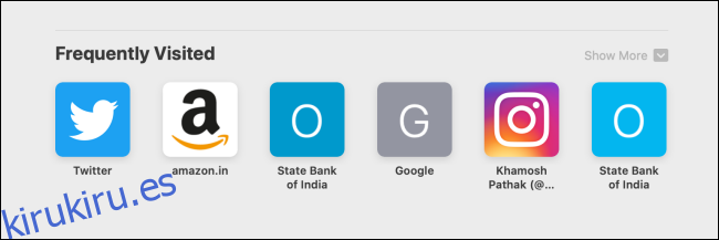 Cómo deshabilitar la página de inicio visitada con frecuencia de Safari en iPhone, iPad y Mac