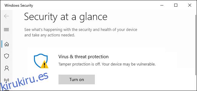 Cómo habilitar la protección contra manipulaciones para la seguridad de Windows en Windows 10