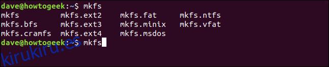 Cómo usar el comando mkfs en Linux