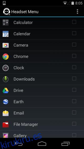 El menú de auriculares agrega un menú de cambio de aplicación cuando los auriculares están conectados [Android]