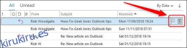 Cómo mostrar botones de acción rápida sobre su correo electrónico en Outlook