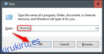 Abrir Chrome desde ejecutar