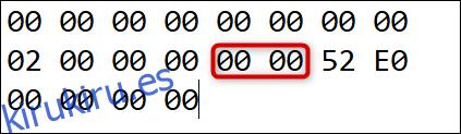 El código de escaneo a la tecla que estamos reasignando Insertar a: