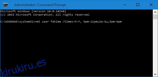 Cómo establecer un límite de tiempo para cuentas locales en Windows 10