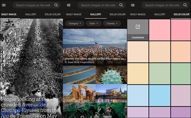 Cómo obtener las fotos diarias de Bing como fondo de pantalla en Android