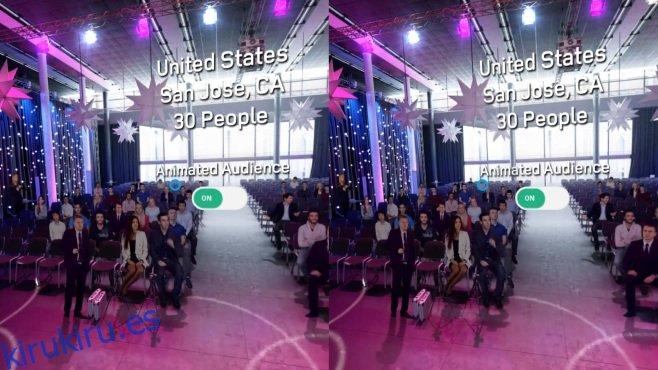 Practique hablar en público en un escenario virtual con una audiencia simulada [Android]