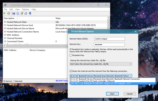 Cómo convertir su PC en un punto de acceso para su conexión WiFi [Windows]