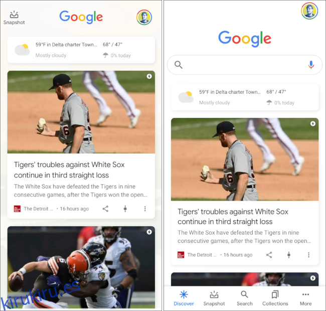 Cómo personalizar el feed de Google Discover en Android