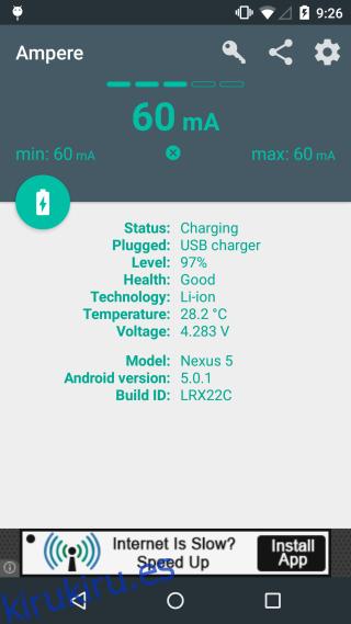 Verifique la velocidad de carga y descarga de la batería en su dispositivo Android