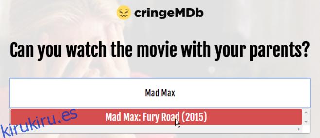 Compruebe si una película es apropiada para ver en familia o no