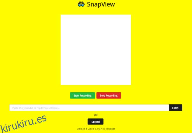Cómo crear un video de Snapchat Spectacles sin gafas