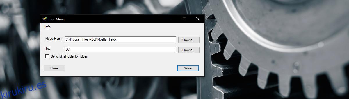 Cómo mover la instalación de una aplicación a otra unidad en Windows