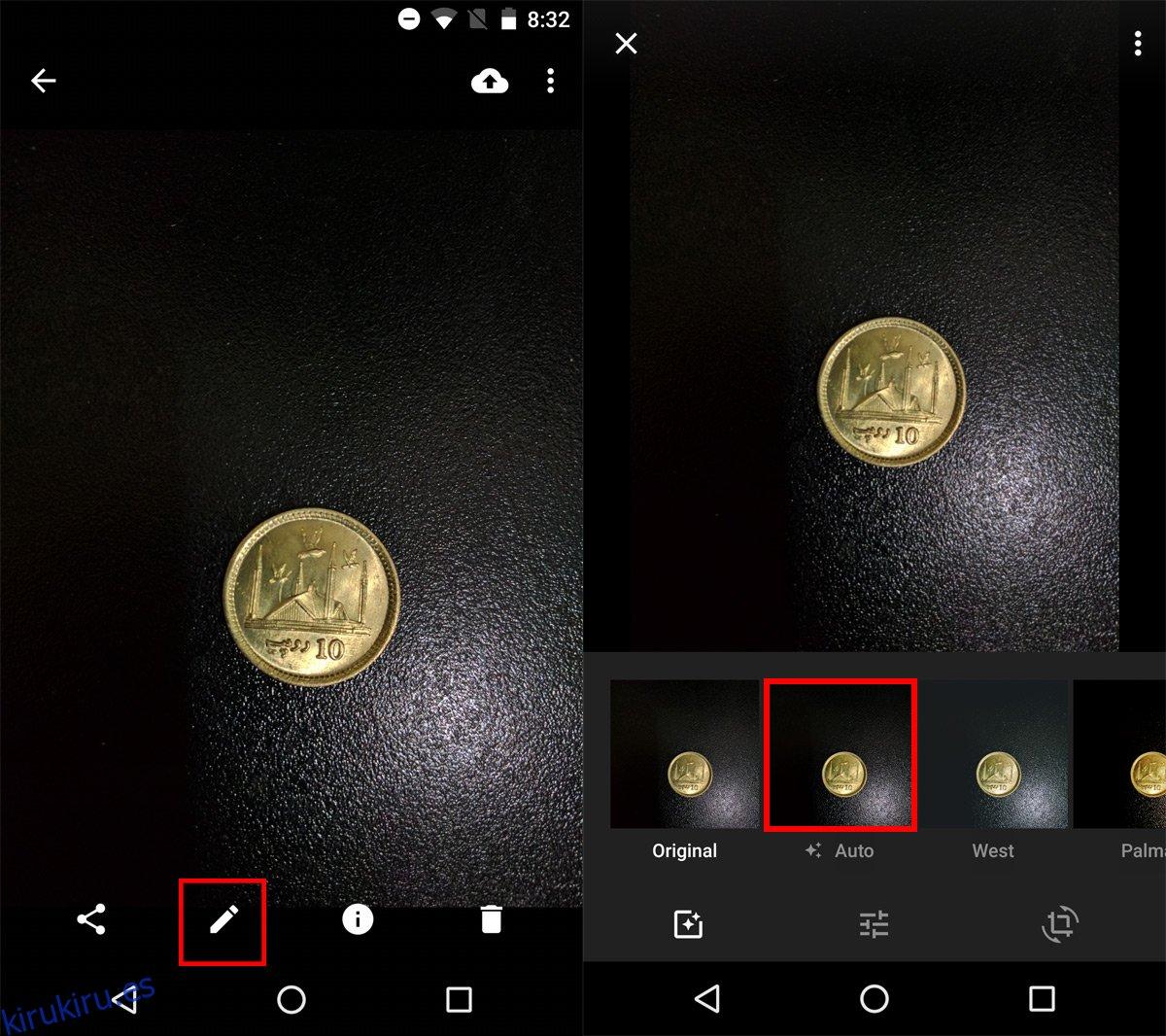 Cómo usar el balance de blancos en Google Photos