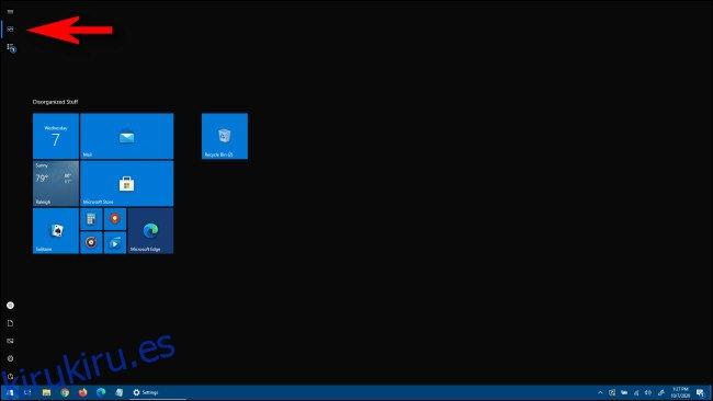 Cómo habilitar o deshabilitar el menú de inicio de pantalla completa de Windows 10