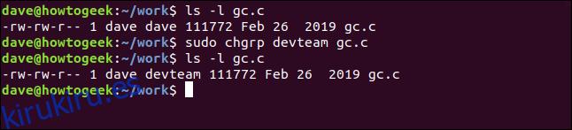 Cómo usar el comando chgrp en Linux