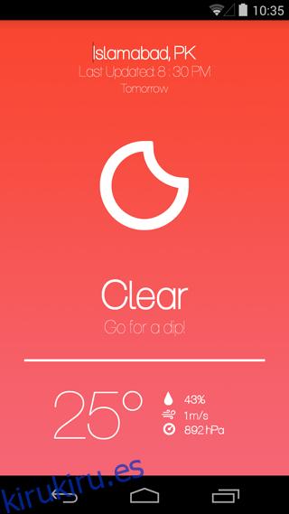 Weatheroux⁺ es tan simple y limpio como una aplicación meteorológica puede conseguir [Android]