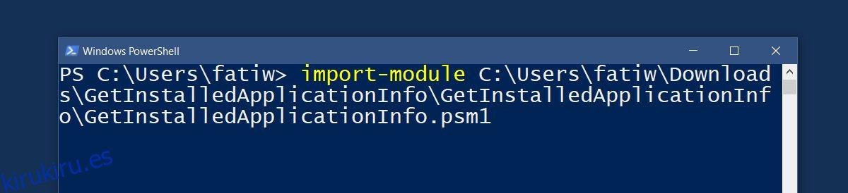 Utilice un script de PowerShell para obtener una lista de aplicaciones instaladas en Windows
