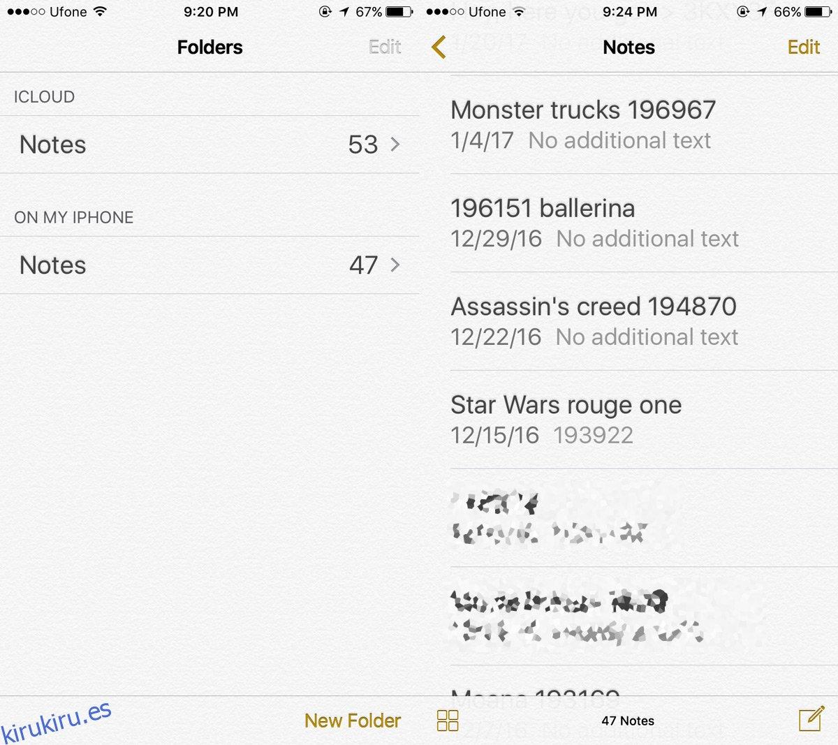 Cómo mover notas desde su iPhone a iCloud