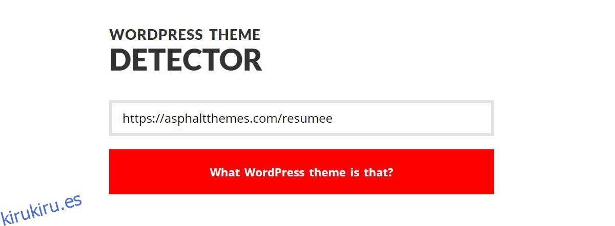 Cómo encontrar el tema de WordPress que utiliza un sitio web