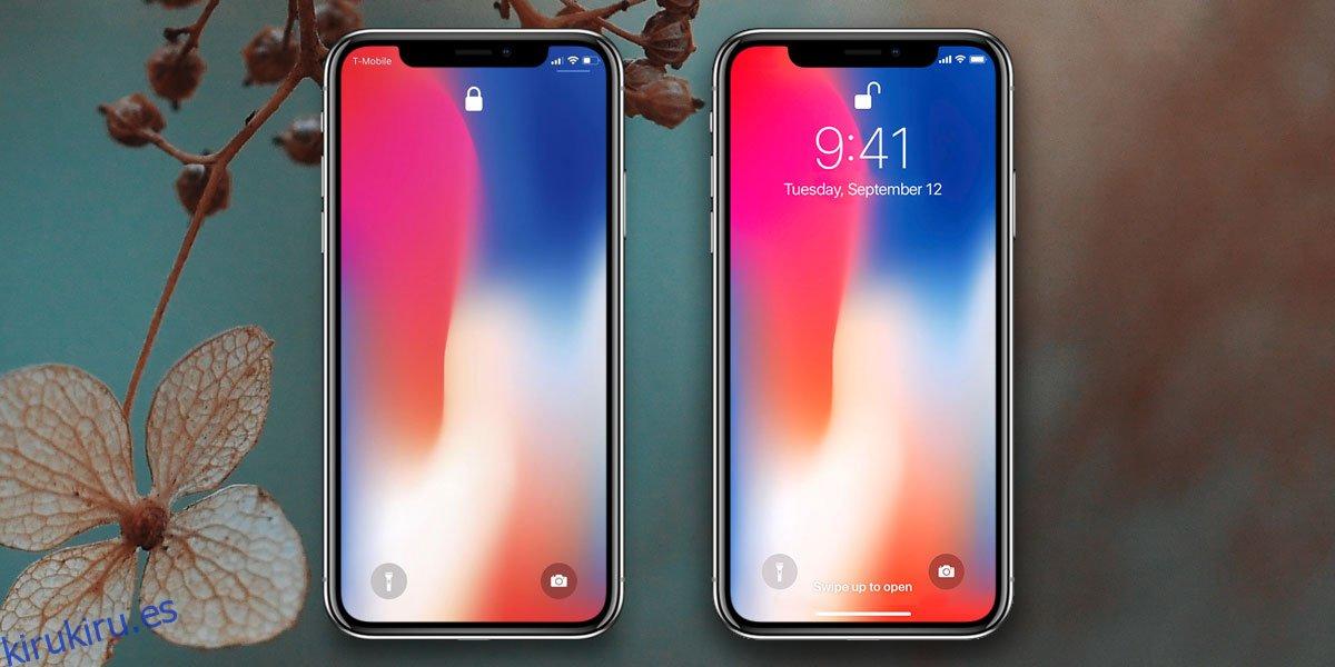 Cómo arreglar la pantalla de bloqueo en blanco en iPhone X