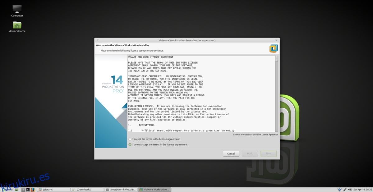 Cómo instalar VMWare Workstation Pro 14 en Linux