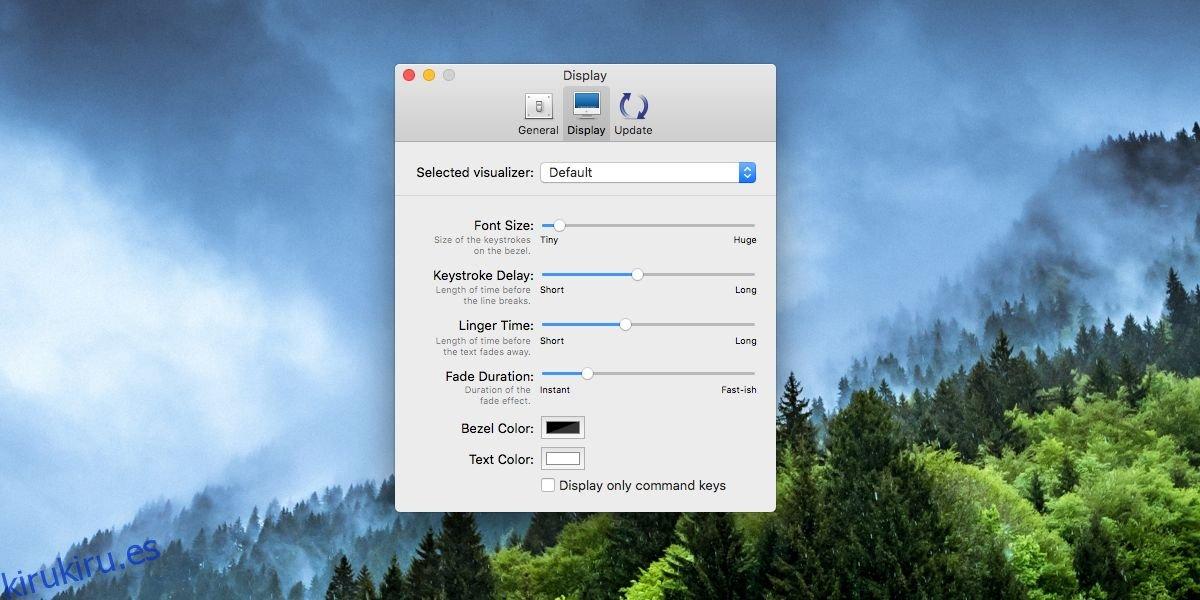 Cómo mostrar las pulsaciones de teclas en su pantalla en macOS