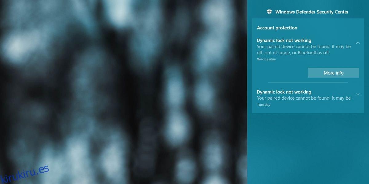 Cómo arreglar el bloqueo dinámico que no funciona después de la actualización de abril de Windows 10