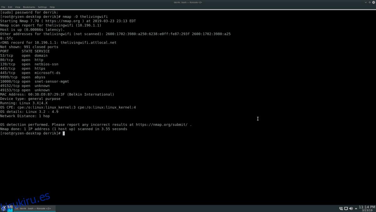 Cómo usar Nmap desde la línea de comandos en Linux