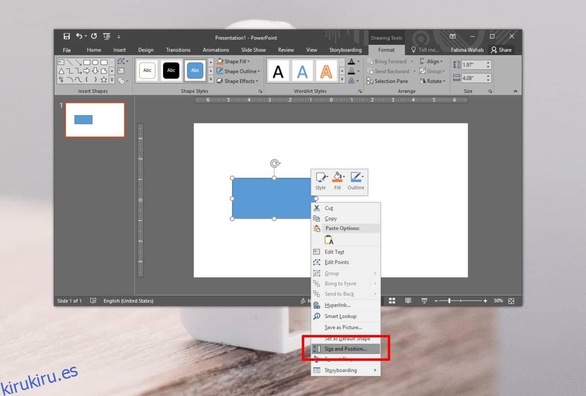 Cómo encontrar y copiar la posición exacta de objetos en PowerPoint