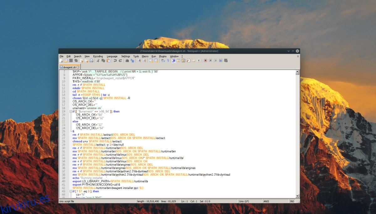 Cómo instalar NotePad ++ en Linux
