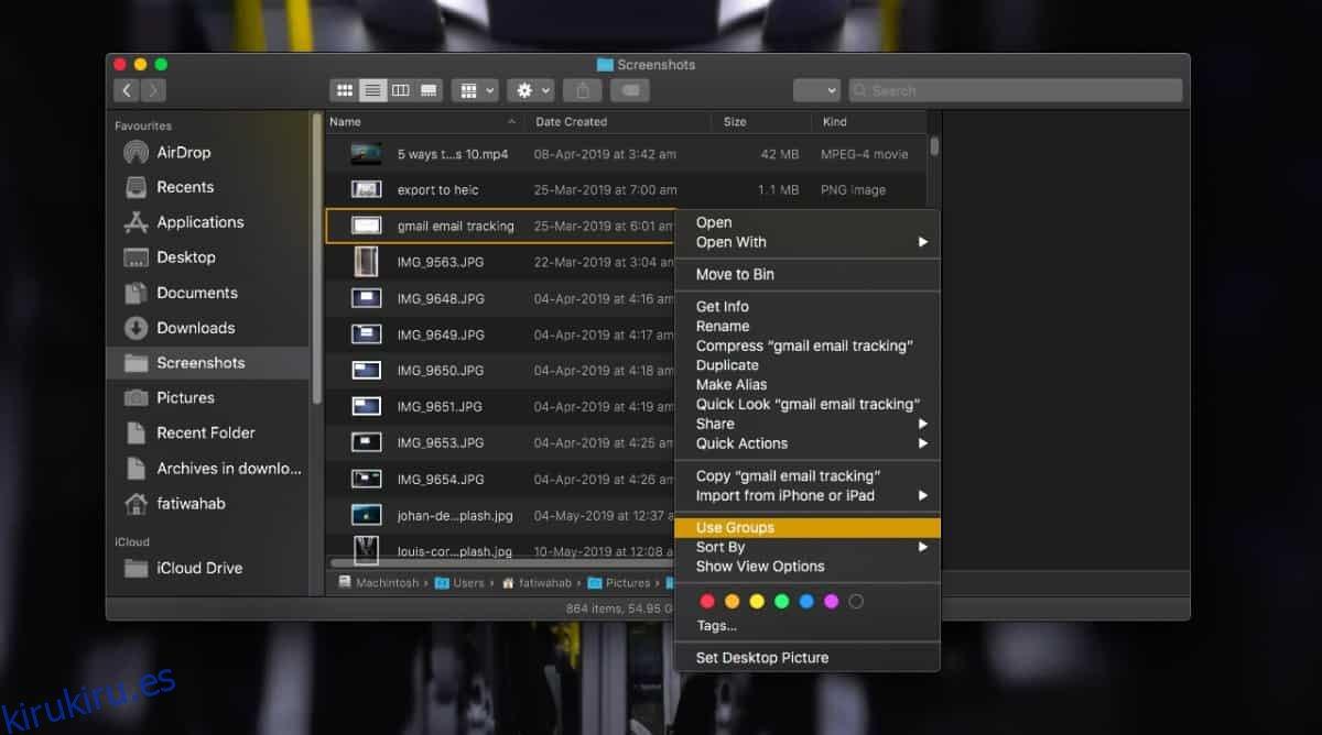 Cómo configurar la agrupación de archivos para una carpeta en Finder en macOS