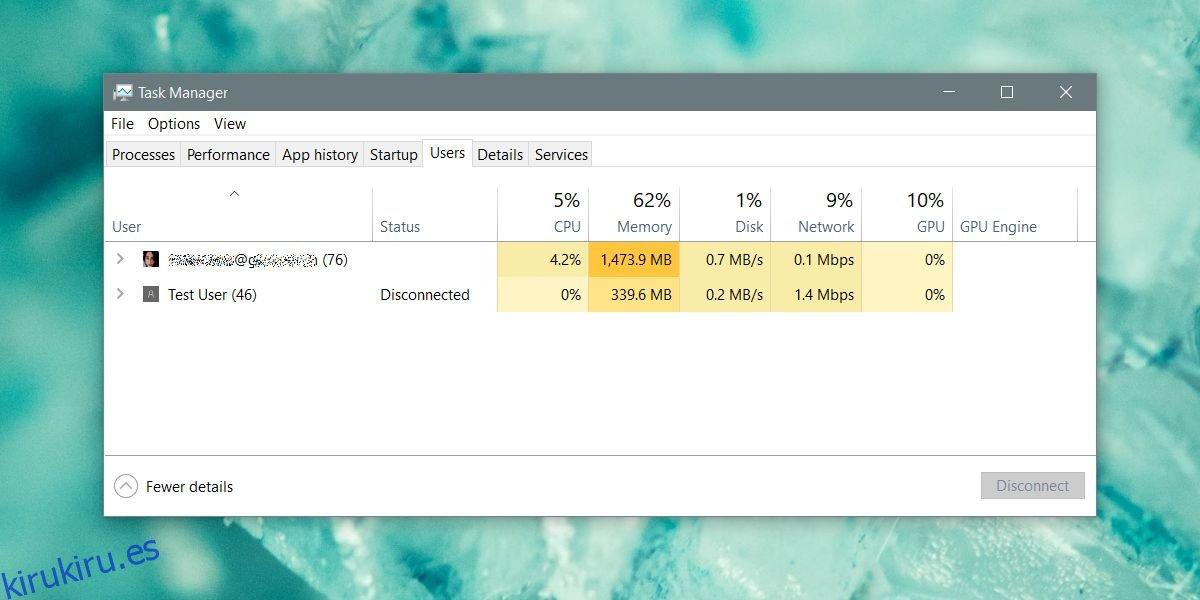 Cómo cerrar la sesión de otros usuarios de Windows 10