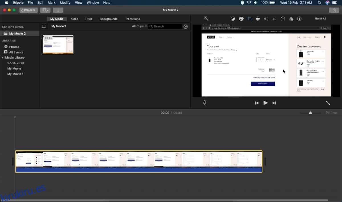 Cómo convertir un archivo MOV a MP4 en macOS