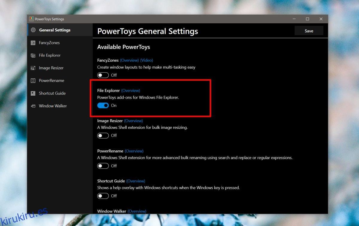 Cómo habilitar las vistas previas de archivos de rebajas en el Explorador de archivos en Windows 10