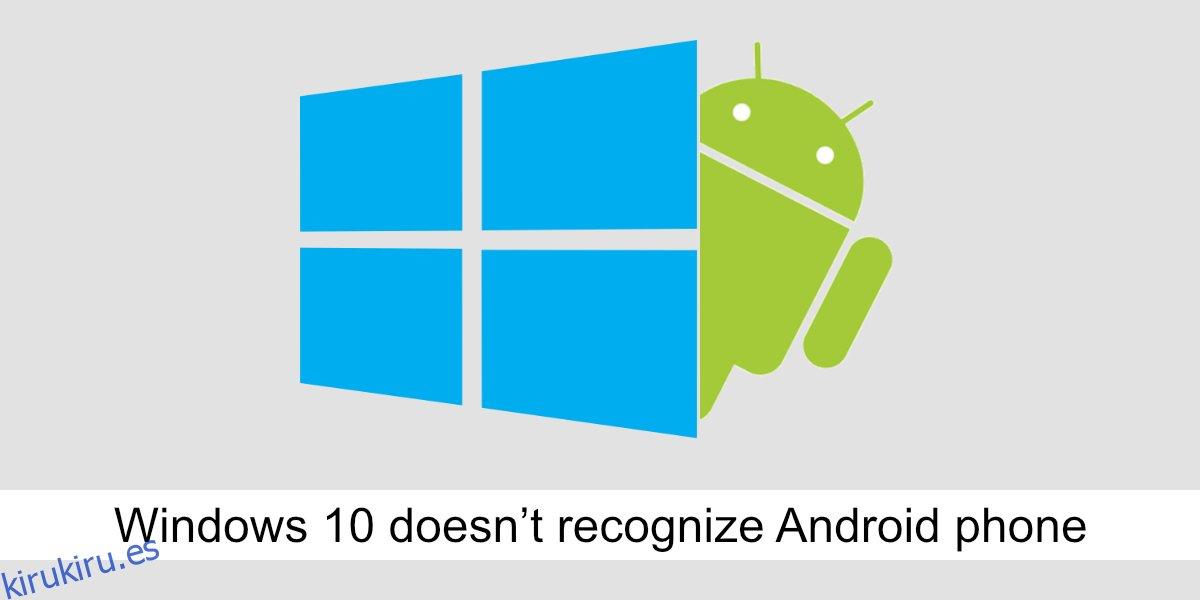 Cómo reparar Windows 10 no reconoce el teléfono Android